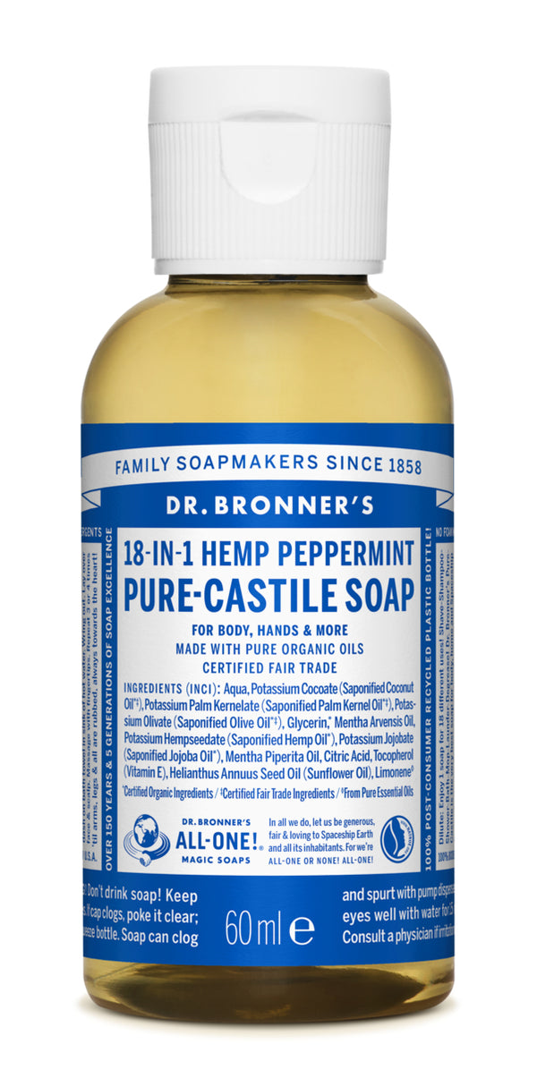 PURE-CASTILE LIQUID SOAP Pepper Mint, 59ml