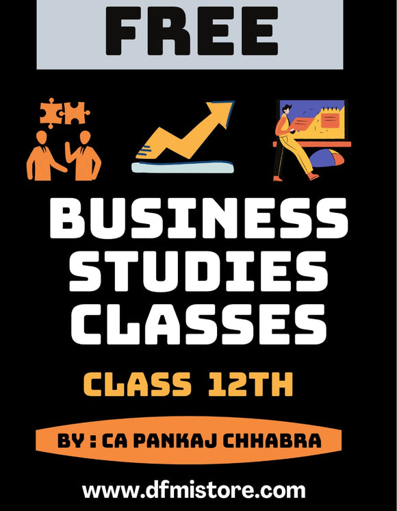 Business Studies - Class 12th (CBSE Board)