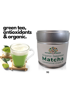 Organic Matcha Ceremonial Premium Grade A - Green Tea from Japan - Antioxidants, Amino Acids and Energy 30g tin= 30 Servings