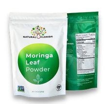 Load image into Gallery viewer, Premium MORINGA OLEIFERA LEAF POWDER - 100% Pure & Natural - 225g (8oz) Stand Up Pouch - Non-GMO - Vegan - No