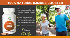 Healthy Immune Booster x 90 Vegan Capsules | Gluten-Free | Non-GMO | Plant Based | Made in USA