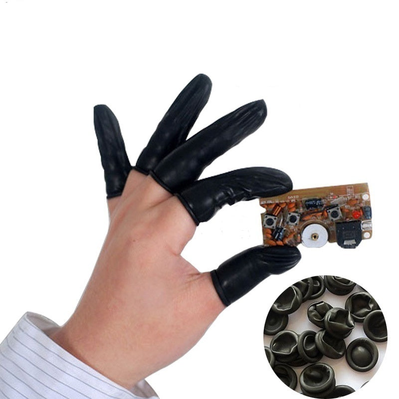 50pcs Disposable Anti Static Rubber Latex Finger Cots Eyebrow Extension Cleaning Electronic Gloves
