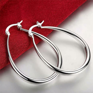 New Fashion Silver Temperament Earring for Women Popularity 925 Jewelry Silver For Women Smooth U Shape Earring