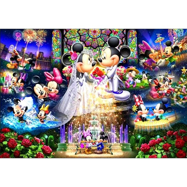 Diamond Painting Full Square Animation Cartoon Mickey Mouse Wedding Daimond Embroidery Cross Stitch Mosaic Rhinestone LE01043