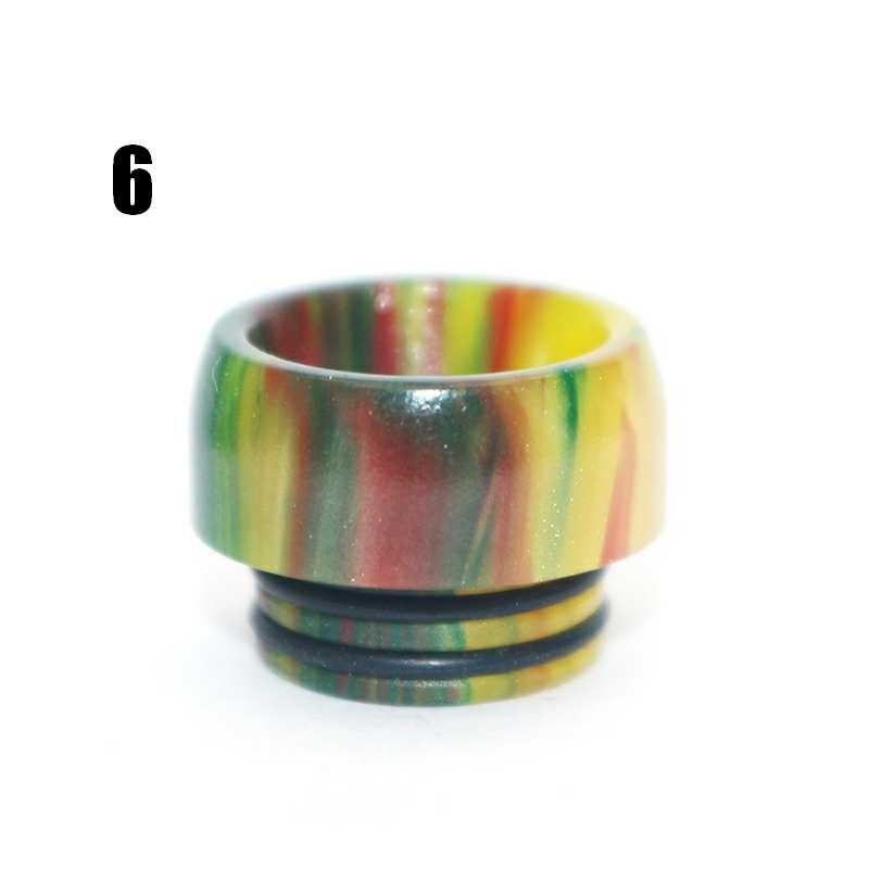 Multicolor TFV8/12 DIY 810 Drip Tip Resin Mouthpiece Cap E-Cigarette Accessories
