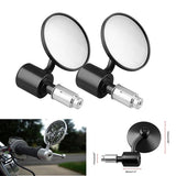 1 Pair 7/8' Motorcycle Rearview Mirror Round Handlebar Bar End Rear View Mirrors Motorbike Side Mirror