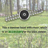 65Mn Universal Lawn Mower Chain Trimmer Head Chain Brushcutter for Trimmer Garden Grass Brush Cutter Tools Spare Parts