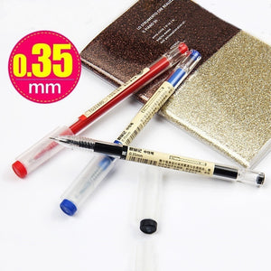 3 Pcs/Set MUJI Style 0.35mm/0.5mm Water-based Pen Gel Pen Black/Red/Blue Ink Pen Maker Pen School Office Supply