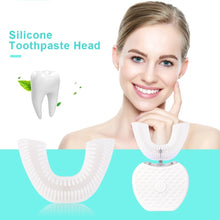Load image into Gallery viewer, 360¡ã Automatic Sonic Electric Toothbrush Mouth Tray Intelligent U Type Automatic Toothbrush heads  .