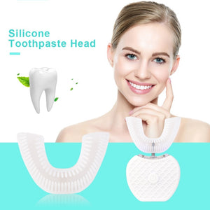 360¡ã Automatic Sonic Electric Toothbrush Mouth Tray Intelligent U Type Automatic Toothbrush heads  .
