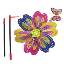 Load image into Gallery viewer, Butterfly Insect Flower Windmill Colourful Wind Spinner Garden Yard Decoration Kids Toy Color Random
