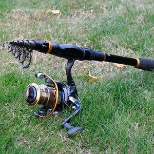 Telescopic Fishing Rod Reel Combos 1.8M-3.6M Travel Fishing Rods With 13+1BB Spinning Fishing Reel