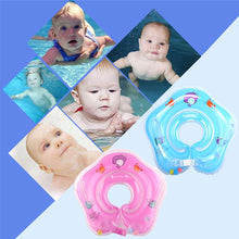Load image into Gallery viewer, Baby Infant Swimming Pool Bath Neck Floating Inflatable Ring Collar Safety Aids Baby Bathroom Neck Float Ring (Color:Orange/Green/Pink/Blue)