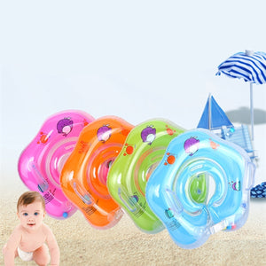 Baby Infant Swimming Pool Bath Neck Floating Inflatable Ring Collar Safety Aids Baby Bathroom Neck Float Ring (Color:Orange/Green/Pink/Blue)