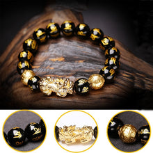 Load image into Gallery viewer, Black Obsidian Wealth Bracelet-The best gift for parents