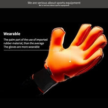Load image into Gallery viewer, 2019 Hot sale Professional Goalkeeper Gloves Big Strong Finger Protection Soccer Thick Latex Slip Goal Keeper Gloves