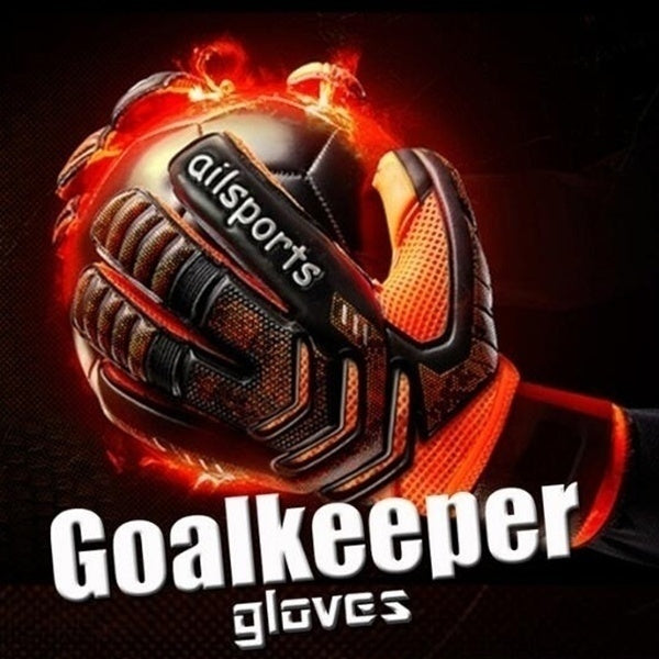 2019 Hot sale Professional Goalkeeper Gloves Big Strong Finger Protection Soccer Thick Latex Slip Goal Keeper Gloves