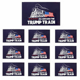 10pcs Donald Trump Bumper Sticker 2020 All Aboard The Trump Train Car Stickers