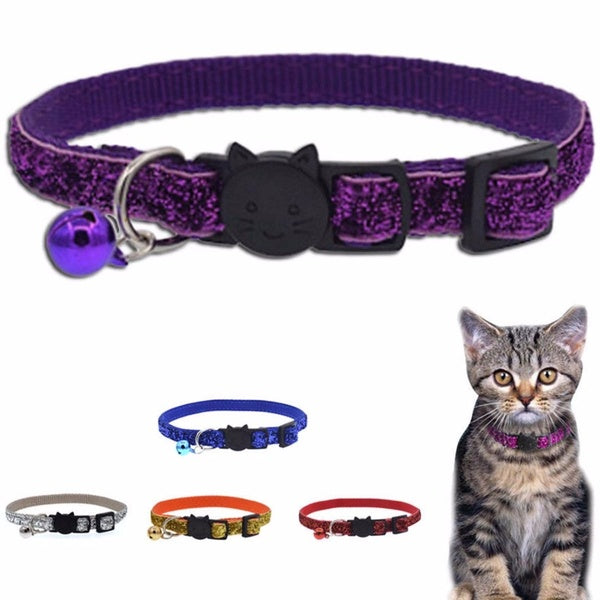 1PCS New Safety Buckle Personalized Breakaway Cat Collar With Colorful Bell For Cat