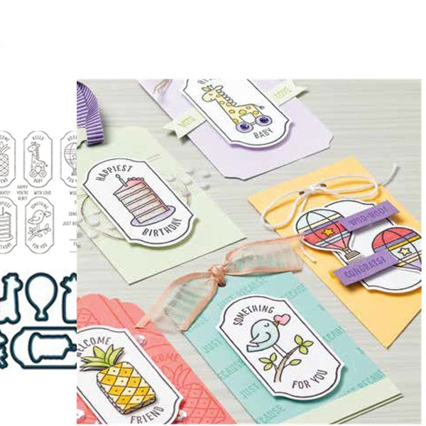 TIME FOR TAGS Metal Cutting Dies and stamps for Scrapbooking New 2019 Die Cuts for Card Making Stitch Craft Die Troquele