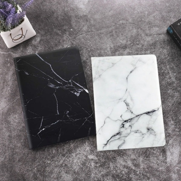 1PC Black and White Marble Pattern Case for iPad 2018 PRO12.9 /iPad Pro10.5 inch Support Protective Scrub Cover For Leather 2017/2018 iPad 9.7/Pro 11''  Tri-fold Case for iPad 2/3/4  iPad mini 1/2/3/4/5 Cover for iPad 5/Air   6/Air 2