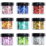 9 Color Glitter Cosmetic Festival Chunky Body Glitter For Nail Hair Face Shimmer Eyeshadow Makeup Eyes