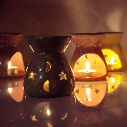 Ceramic Fragrance Oil Burners Aromatherapy Scent Candle Melt Essential Home Decor Birthday Gift