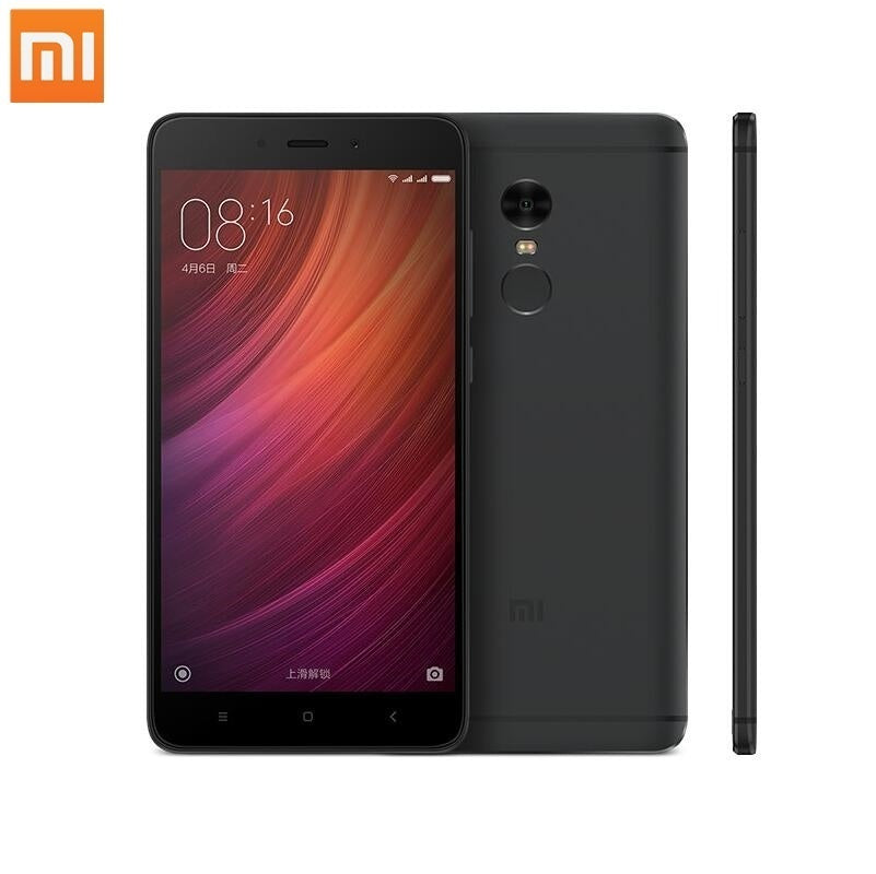 Hot Xiaomi Redmi Note 4 MIUI Quad Core Android 4G Phone with RAM 3GB ROM 64GB Memory Dual SIM Card Standby MTK Helio X20 Ten core (Refurbished)