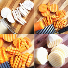 Load image into Gallery viewer, french fry Cutter Stainless Steel Potato Wavy Edged Cutter Knife kitchen Gadget Vegetable Fruit Potato Peeler Cooking Tools