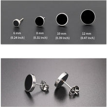 Load image into Gallery viewer, 2Pcs  Men earrings,Women earrings   Titanium steel earrings for men     Stainless steel earrings for women    Fashion earrings