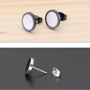 2Pcs  Men earrings,Women earrings   Titanium steel earrings for men     Stainless steel earrings for women    Fashion earrings