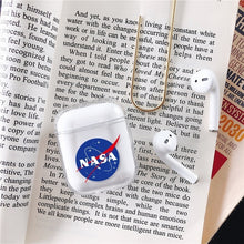 Load image into Gallery viewer, American NASA Astronaut Fashion for Apple Airpods1/2 Generation Wireless Bluetooth Headset Cover Transparent Hard Shell PC Painted Shell