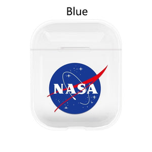 American NASA Astronaut Fashion for Apple Airpods1/2 Generation Wireless Bluetooth Headset Cover Transparent Hard Shell PC Painted Shell