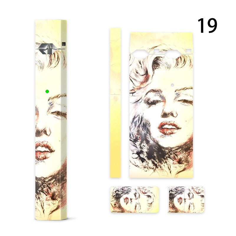 High Quality Personality Decal Sticker Vinyl Skin for Juul Vape Juul Cover Vinyl Skin Case Protective Sticker