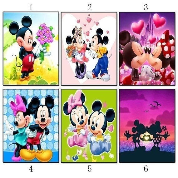 5D DIY Diamond Painting Cartoon Painted Mosaic Embroidery Gift Cross stitch Embroidery Crafts home Decoration