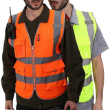 High Visibility Reflective Vest Working Clothes Motorcycle Cycling Sports Outdoor Reflective Safety Clothing