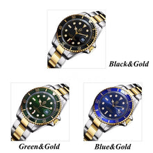 Load image into Gallery viewer, REGINALD Mens Gold Watch Sapphire Glass Stainless Steel Band  Business Quartz Uhren Herren With Gift Box