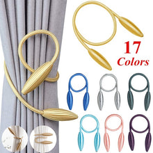 Load image into Gallery viewer, New 17 Colors Creative DIY Curtain Buckle Straps Curtain Tiebacks Modern Curtain Holder Strap Clip Flower Shaper