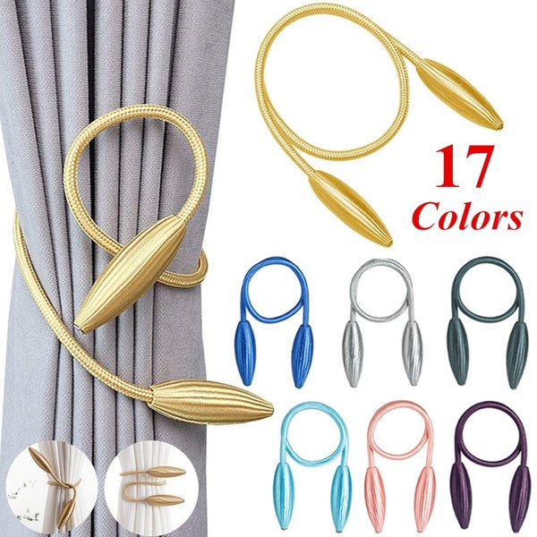 New 17 Colors Creative DIY Curtain Buckle Straps Curtain Tiebacks Modern Curtain Holder Strap Clip Flower Shaper