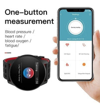 Load image into Gallery viewer, Sport Smart Watch IP67 Waterproof Bluetooth Call Reminder heart rate blood pressure monitor Fashion Mountaineering Cycling Outdoor Watches LCD Smartwatch for IPhone Android Black Blue Gray Red Green