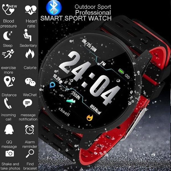 Sport Smart Watch IP67 Waterproof Bluetooth Call Reminder heart rate blood pressure monitor Fashion Mountaineering Cycling Outdoor Watches LCD Smartwatch for IPhone Android Black Blue Gray Red Green