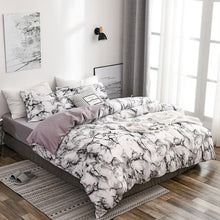 Load image into Gallery viewer, 9 Sizes Duvet Cover Set with Pillowcase 6 Colors Marble Pattern Soft Bedroom Comforter Cover Set Set Single Twin Double Full Queen King Sizes Home Bedding Set
