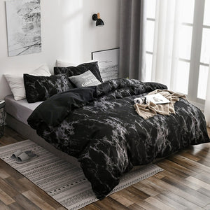 9 Sizes Duvet Cover Set with Pillowcase 6 Colors Marble Pattern Soft Bedroom Comforter Cover Set Set Single Twin Double Full Queen King Sizes Home Bedding Set