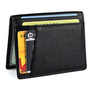 2019 Ultra Slim Front Pocket Wallet Bifold Mens Wallet with 8 Card Slots Minimalist Travel Wallet Flip ID Window Slots for Driver License ID Cards Business Wallet