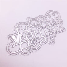 Load image into Gallery viewer, Happy Birthday Letters Metal Cutting Dies Mold Scrapbook Paper Craft Embossing Mould Blade Punch Stencils Dies