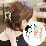New Hair Accessories Claw Clip Temperament Pearl Hair Catch Large Pearl Hair Clip Grab Clip Pearl Catch Clip Horsetail Clip