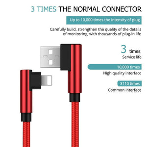 1M/2M/3M Strong Long USB Fast Charger Data Cable Lead For/iPhone 5s 6 6s 7 8 x