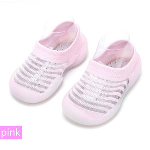 Baby Summer Thin Ice Silk Non-slip Toddler Shoes Soft Sole Prewalkers