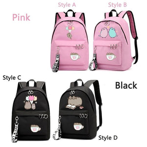 Punsheen Cat Girls Primary School Student Backpack Travel Shoulder Bag School Rucksack