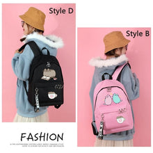 Load image into Gallery viewer, Punsheen Cat Girls Primary School Student Backpack Travel Shoulder Bag School Rucksack